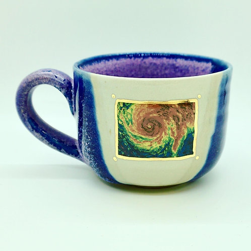 Lavender Handle Hurricane Mug