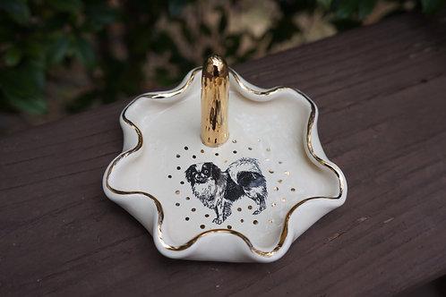 Small Puppy Love Pomeranian Ring Dish