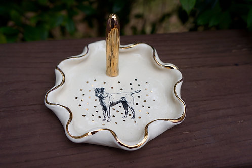 Small Puppy Love Terrier Ring Dish