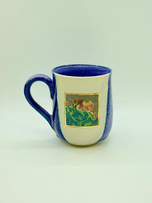 Tall Oil Spill Radar Image Painting Mug