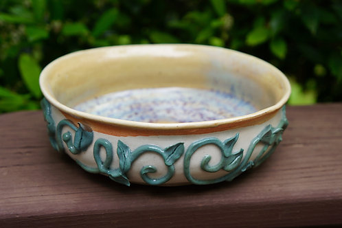 Hand-Piped Ivy Porcelain Bowl
