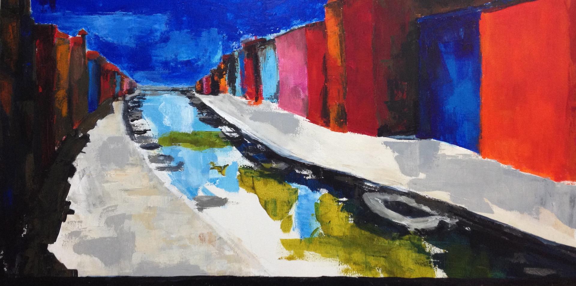 Casette sul Canale di Burano