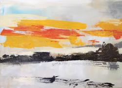 Orange sunset at Angistri