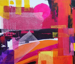 pink and orange abstract detail