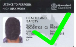 New High Risk Work Licence