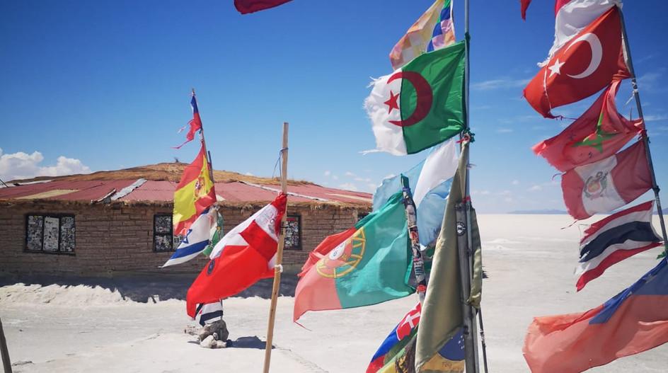 Les drapeaux du Dakar