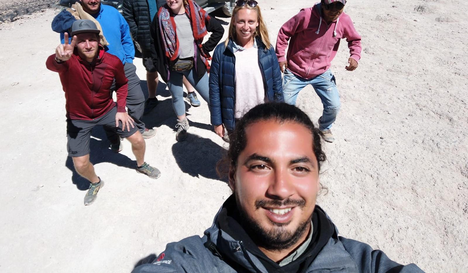 Notre groupe et le guide Rodolfo