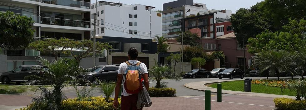 Slimen dans les rues de Lima