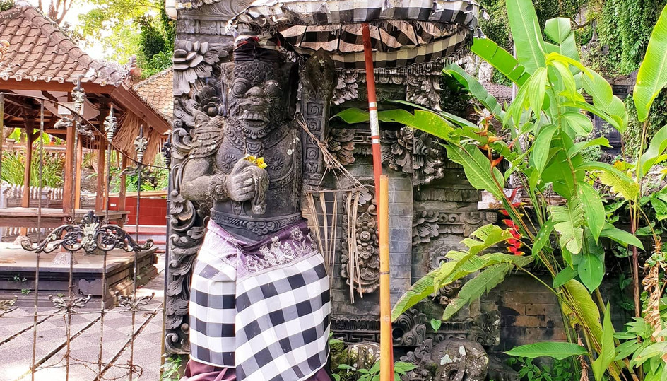 Statue typique de Bali