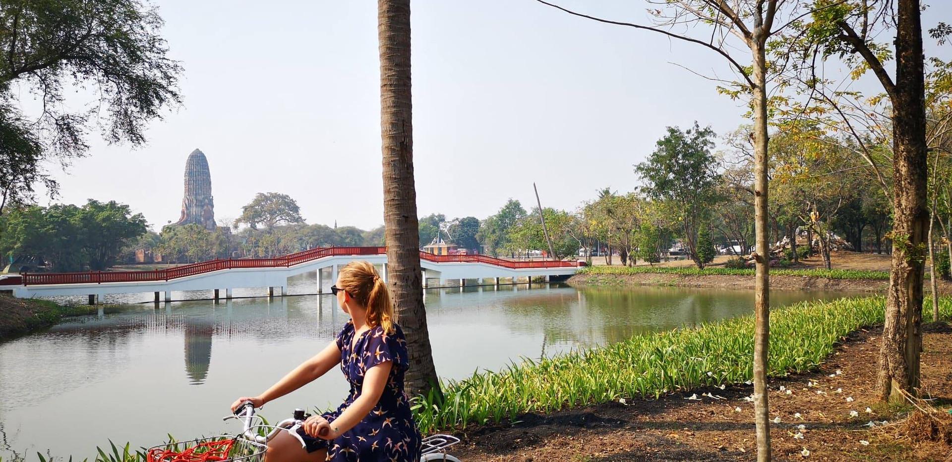 À vélo dans Ayutthaya