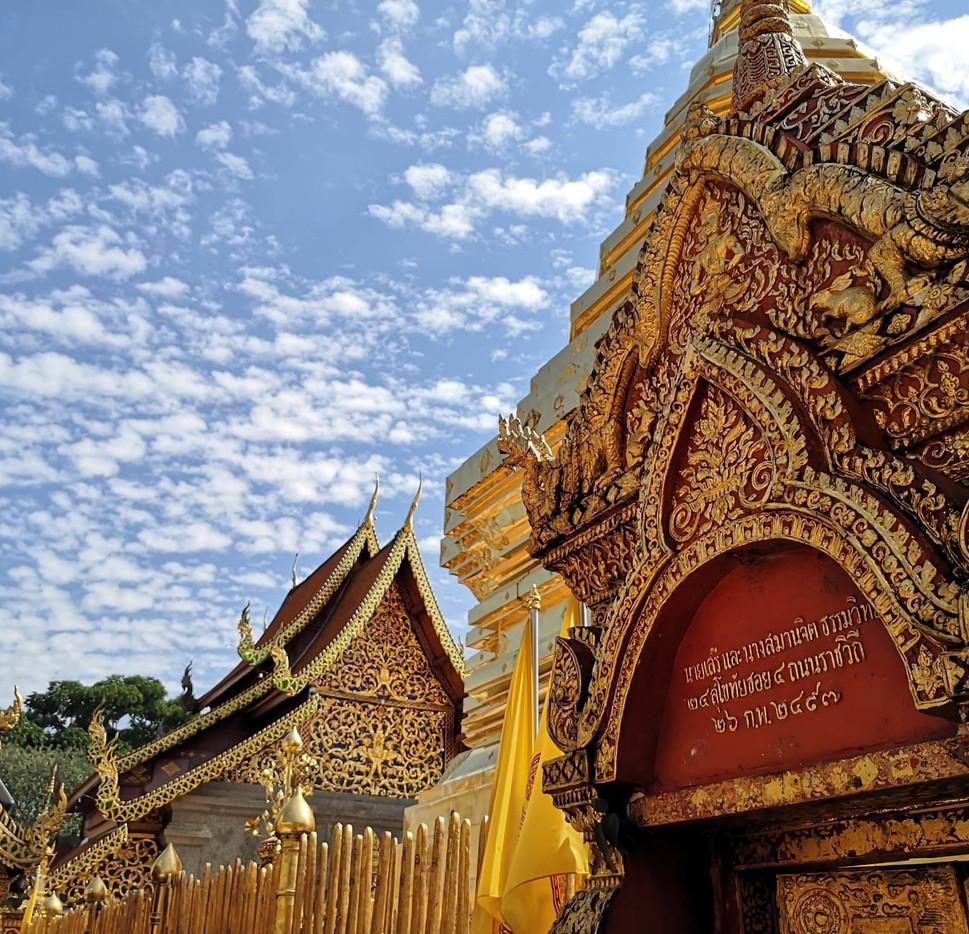 Le ciel de Chiang Mai à Doi Suthep
