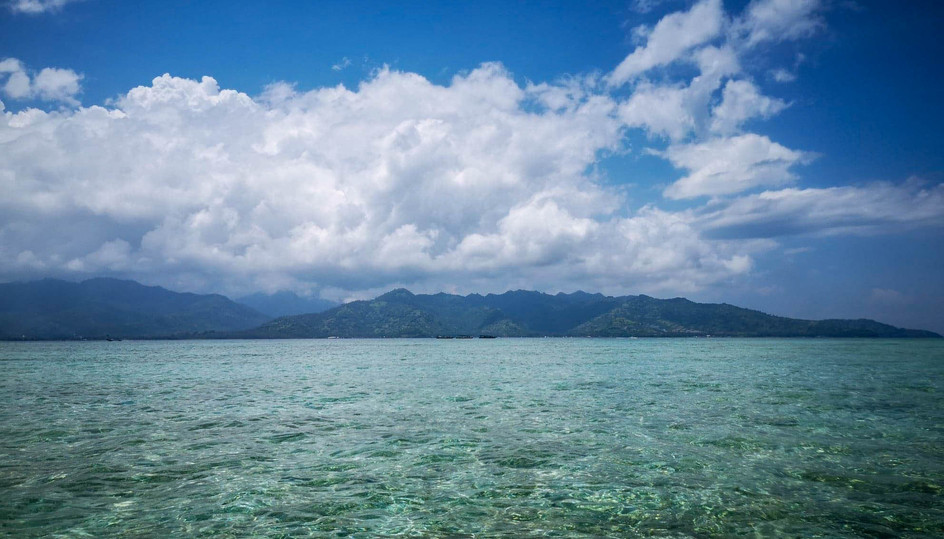 L'océan vu de Gili Air