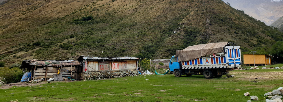 Village sur la route du Salkantay