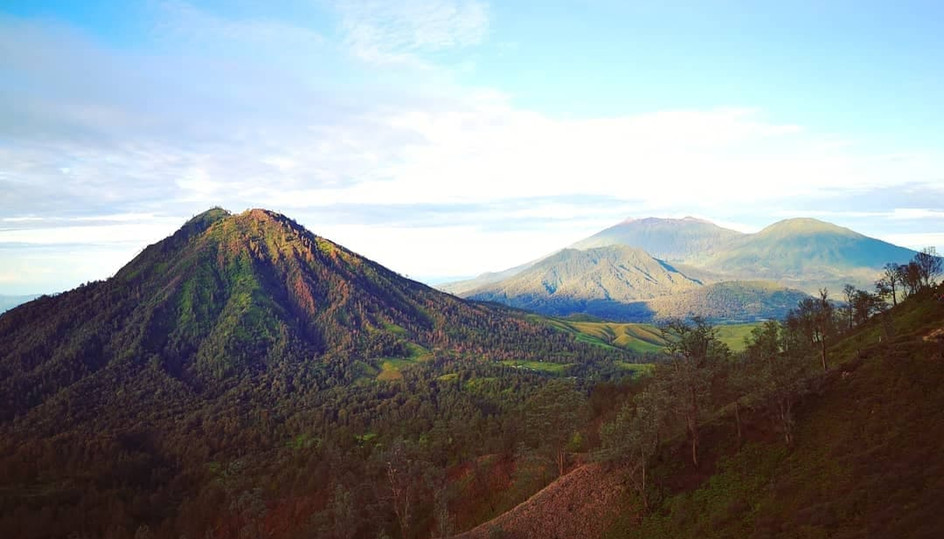 Vue de la descente du Mont Ijen