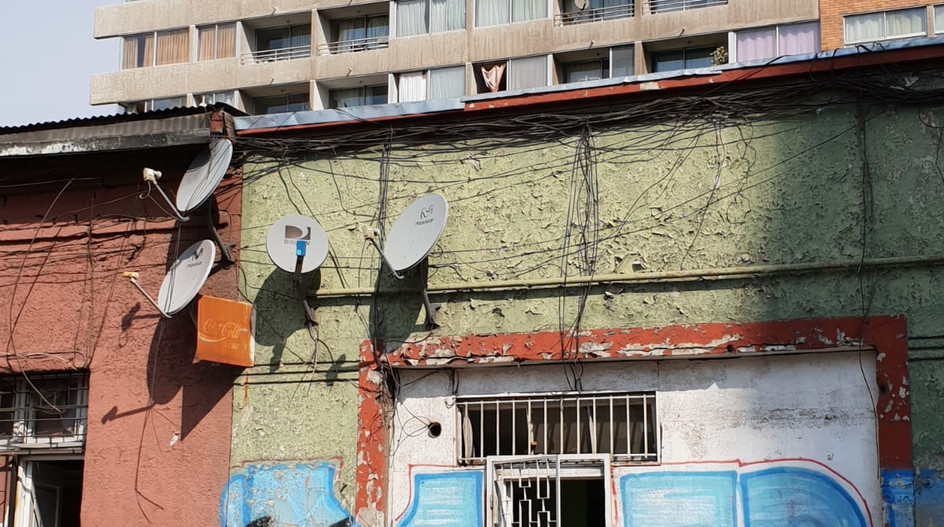 Une vue du centre de Santiago