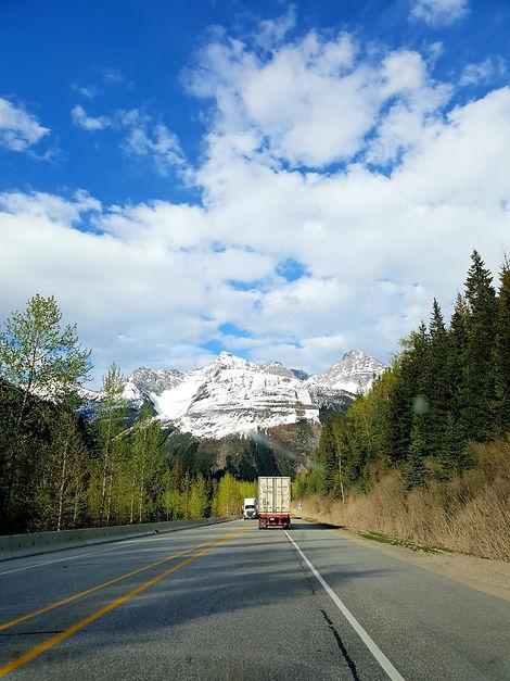 Sur la route de Banff