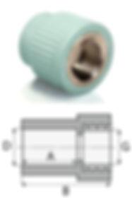 Муфта комбинированная с внутренней резьбой