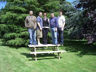 North Wales Stoves picnic bench and garden range