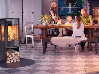 A selection of the stoves available from Contura at North Wales Stoves