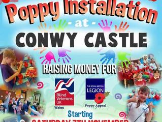 Conwy Castle Poppy Exhibition In Aid Of The Royal British Legion