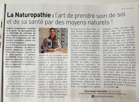 On parle de Naturopathie dans le journal local !