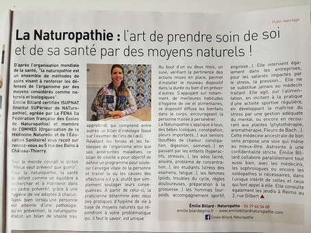 On parle de Naturopathie dans le journal local !