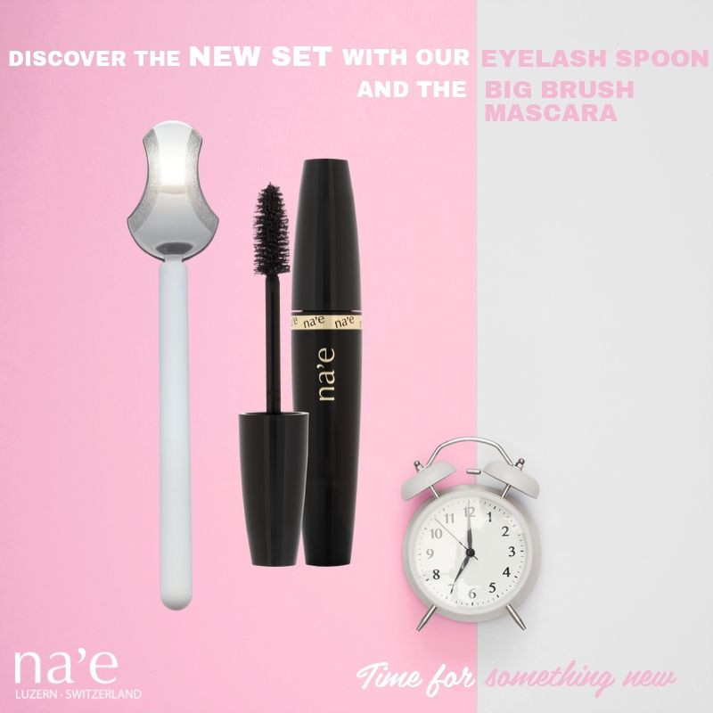 our new set with the eyelash spoon and the big brush mascara