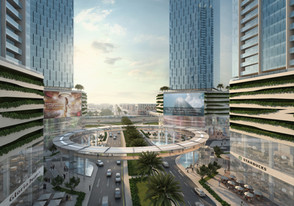 PROJECT DESCRIPTION 4 towers, G+P7+M+40, situated at the entrance to business bay, Sheikh Zayed Road. The towers comprise 2 Hotels and a mix of serviced residential and commercial spaces with a streetscape Retail component SCOPE OFWORK Master planning, concept design, costing & feasibility
