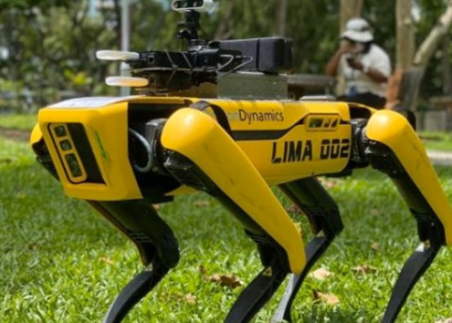 ROBOT DOGS PATROL PARKS IN SINGAPORE