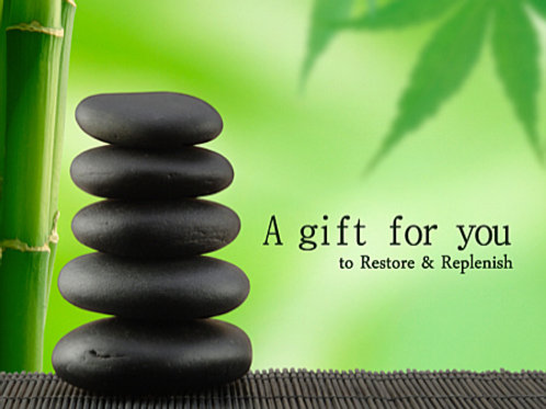 Hot Stone Massage 90 Minute Gift Card