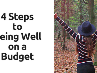 4 Steps to Being Well on a Budget