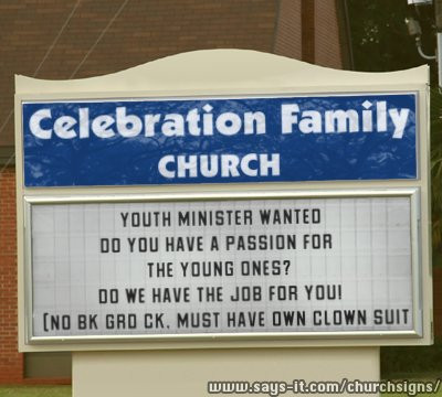 So I'm Gonna Be a Youth Pastor