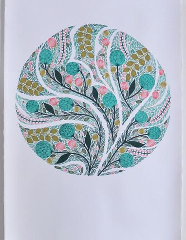 Spring Botanical, original gouache on paper, 100 x 80cm