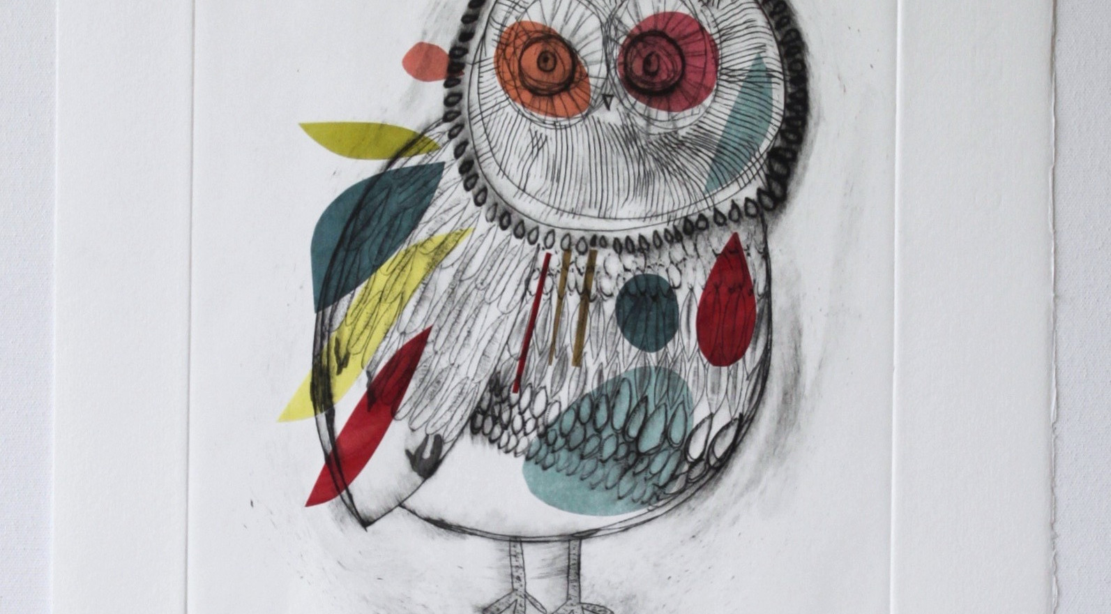 Picasso Owl, engraving 14 of 40 with chine-collé made in Barcelona, 35 x 50cm