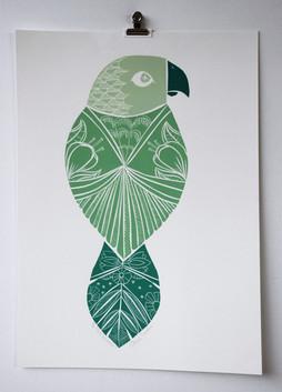 The Summer, wood cut print, 50 x 35cm