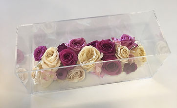 Large Acrylic Floral Keepsake