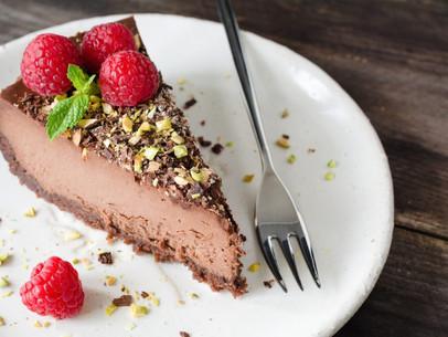Cheesecake de amaretto y chocolate
