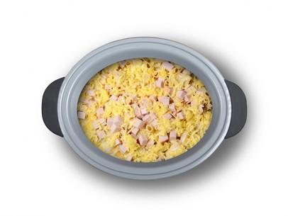 Rigatoni de jamón y queso
