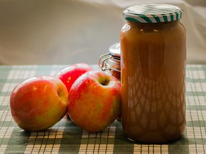 Puré de manzanas delicioso