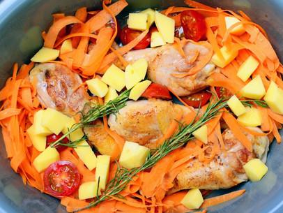Trutros de pollo al romero