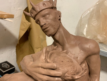 """""""Coronation""""... the commissioned artwork has been finished in modeling today...some photos and video"""