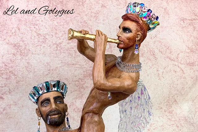 """""""Lel and the young king Golygus"""" short video of the sculpture"""