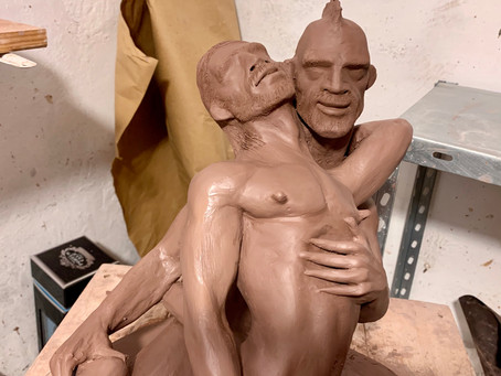 """""""Embraced by the serpent"""" has been sculpted today"""