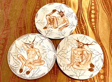"""FAUNS"". The new set of ceramic plates."
