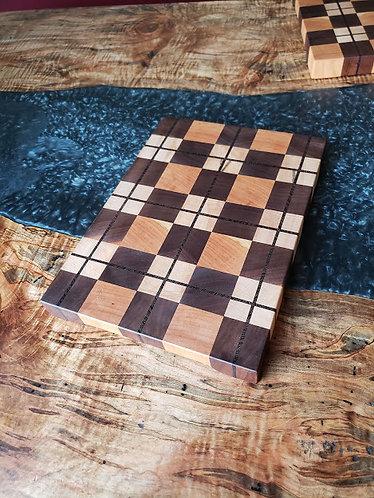Plaid end grain cutting board 4