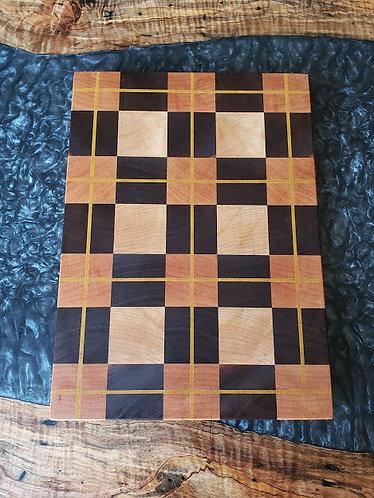 Plaid end grain cutting board 3