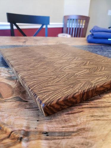 Zebra Wood end grain cutting board