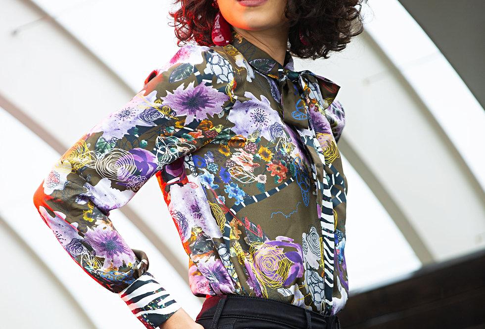 Saskia Shirt - Brown floral