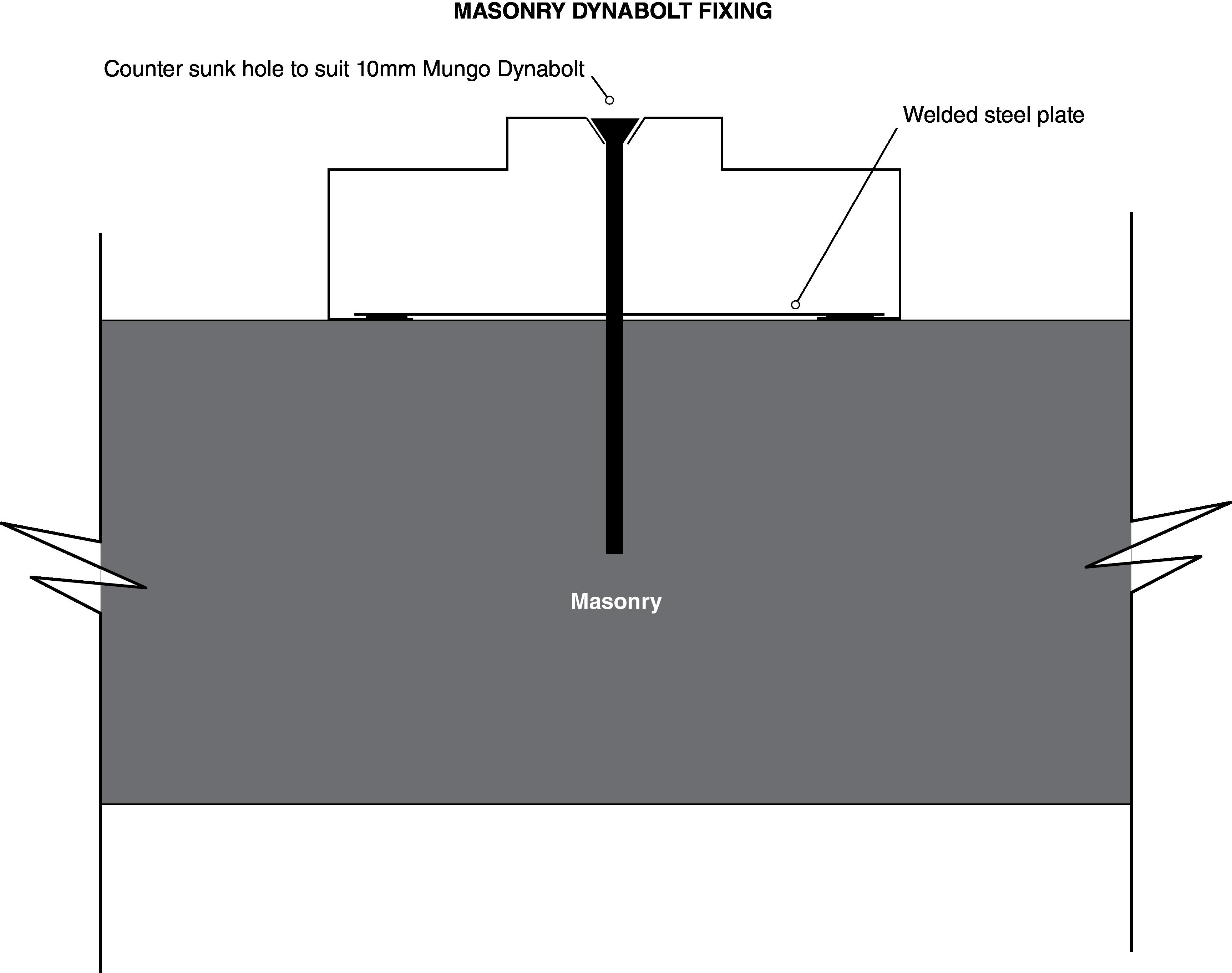 Tilt Dynabolt frame fixing