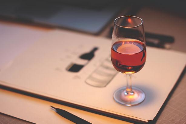 Wijn schets